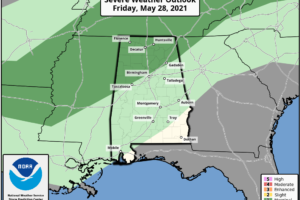 A Few Showers For North Alabama This Afternoon/Tonight