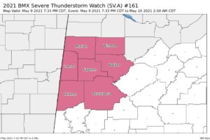 Franklin County Removed from Severe T-Storm Watch