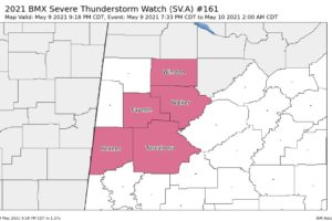 Lamar & Marion Counties Removed from Severe Thunderstorm Watch