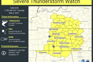 Severe Thunderstorm Watch Until 11 a.m. Includes Parts of North Alabama