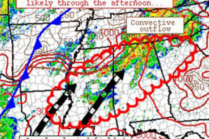 Flash Flood Threat May Develop Today As Bands of Storms Form