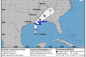 Tropical Rain Ahead For Alabama