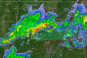 Showers and Storms Continue to Push Across North Central Alabama; Severe Threat is Over