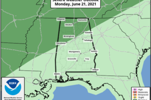 Monday Morning Weather Xtreme:  Some Strong, Perhaps Severe Storms Tonight
