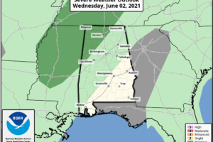 Scattered Showers/Storms Possible Late Tonight/Tomorrow