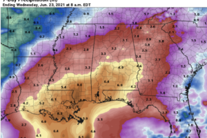 Dry For Most Of The State Through Friday; Tropical Rain For The Weekend