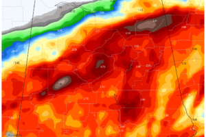 Flash Flood Watch for North Alabama Until Tuesday Morning