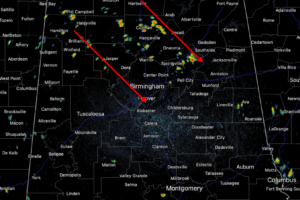 Midday Nowcast: Showers/Storms Developing
