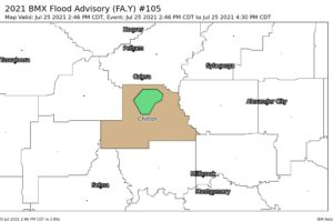 EXPIRED – Flood Advisory for Parts of Chilton County Until 4:30 pm