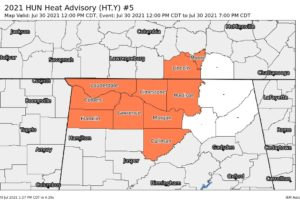 Heat Advisory for Much of North Alabama Extended Until Friday Evening