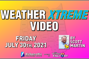Weather Xtreme: Very Hot with a Few Isolated Showers or Storms Possible This Afternoon