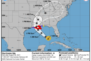 Hurricane Ida 7 a.m. Advisory:  Preparations Along the Gulf Coast Should be Rushed to Completion