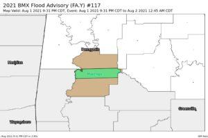 Flood Advisory for Parts of Marengo Co. Until 12:45 am