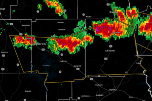 Strong Storms Affecting Parts of Chambers, Coosa, & Tallapoosa Counties