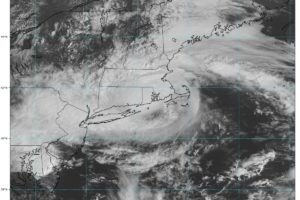 Center of Tropical Storm Henri Approaching Block Island at 10 a.m.