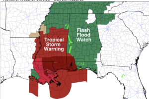 Breezy And Wet/Isolated Tornadoes Possible