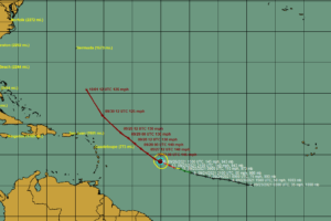 Sam Continues West Northwest as a Category Four Hurricane