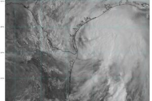 10 am Advisory — Nicholas Continues to Move Erratically Northward Just Offshore of Southern Texas