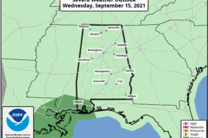 Wet Pattern For Alabama For The Rest Of The Week