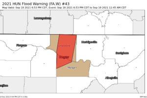 Flood Warning – Limestone & Morgan Co. Until 12:45 am Sunday