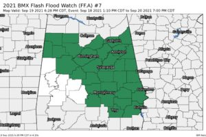 Flash Flood Watch Extended for Much of Central Alabama Through Monday Evening