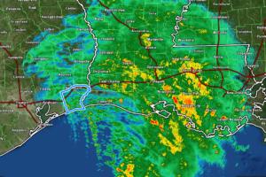 10 am Advisory — Center of Nicholas Moving Across Metropolitan Houston