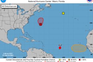 A Tropical/Subtropical Storm May Form Just North-Northeast of Bermuda