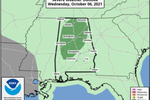 Marginal Threat for Severe Storms Introduced for Wednesday
