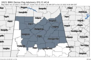 Dense Fog Advisory for Much of North/Central Alabama Until 9 am This Morning
