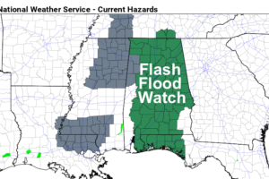Wet Through Wednesday; Flash Flood Watch In Effect